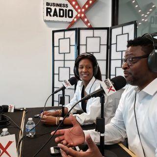 Paul Wilson and Telisha Farrow Jackson with SBDC