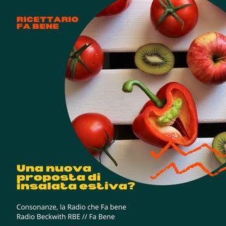 Ricettario Fa Bene - 28 luglio - Insalata estiva con mais, pesche e peperoni