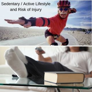 Sedentary vs Active lifestyle and risk of injury