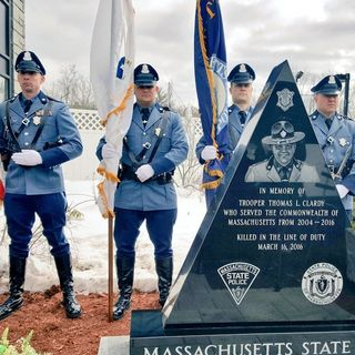 Trooper Struck, Killed In 2016 Mass Pike Crash Honored With Monument