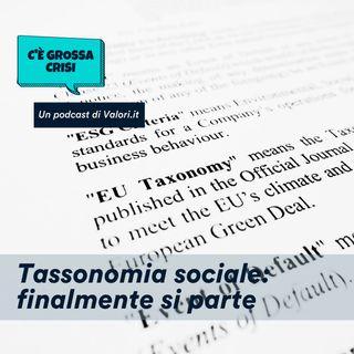 Tassonomia sociale: finalmente si parte