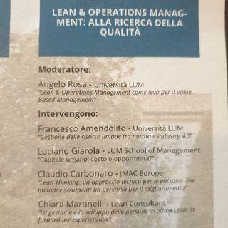 Lean & Operation Management: Alla Ricerca Della Qualità