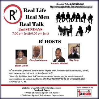 R3 REAL LIFE; REAL MEN; AND REAL TALK : Encouragement From Depression! Part 1