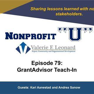 GrantAdvisor Teach In