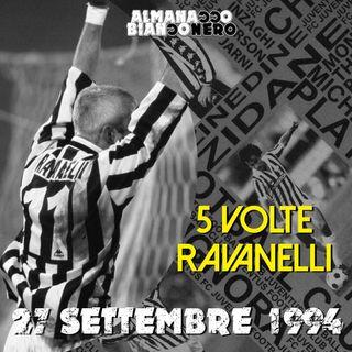 27 settembre 1994 - 5 volte Ravanelli