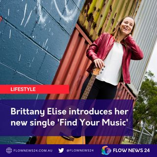Brittany Elise (@BrittanyEliseMusic) shares her new single 'Find Your Music'