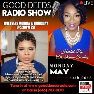 Monica Mccoy International Business Consultant Global Speaker on Good Deeds