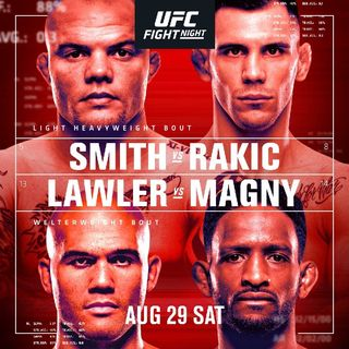 Preview Of The UFC Vegas 8 Card Headlined By Anthony Smith v Aleksandr Rakic In A Light-Heavyweight Fight Live On ESPN In Las Vegas