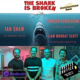 Ian Shaw and cast of The Shark is Broken