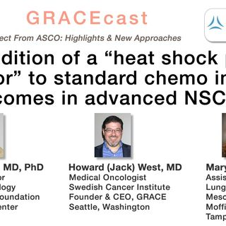 "Can addition of a ""heat shock protein inhibitor"" to standard chemo improve outcomes in advanced NSCLC?"
