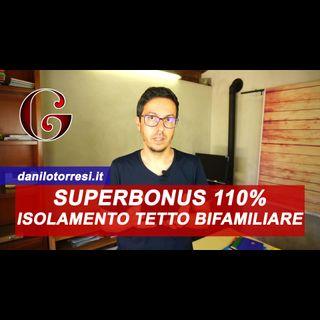 SUPERBONUS 110% Isolamento Tetto su un edificio bifamiliare