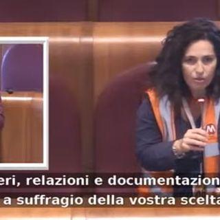Daniela Orlando RSA FILT CGIL Roma Metropolitane dall'Aula Giulio Casere
