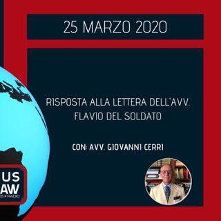 BREAKING NEWS – RISPOSTA ALLA LETTERA DELL'AVV. FLAVIO DEL SOLDATO – AVV. GIOVANNI CERRI