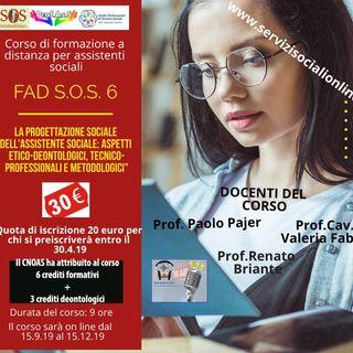 """FAD S.O.S. 6bis - Secondo Podcast - """"La documentazione professionale dell'assistente sociale"""""""
