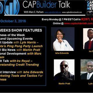 CAPBuilder Talk w/Marc Parham - Small Business and Our Community