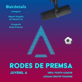 RODA DE PREMSA ⚽️ 27/11/2019 - FC Barcelona - Borussia Dortmund - Juvenil A - Francesc Artiga Cebrian - Miguel Gargallo - Air Details LLC