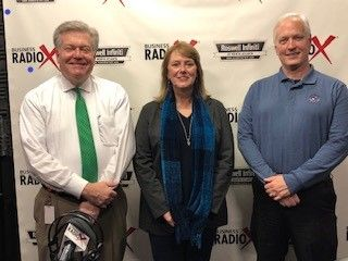 Lisa McGuire with Open Window Marketing and Paul Purcell with InfoQuest