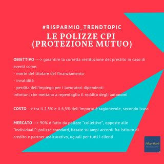 Le polizze CPI (ad esempio a protezione mutuo)