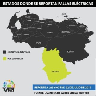 #23Jul ASÍ AMANECE VENEZUELA Venezuela Sigue Apagada