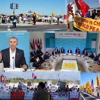 Hàng ngàn người biểu tình bên ngoài Hội Nghị Hoa Kỳ – ASEAN