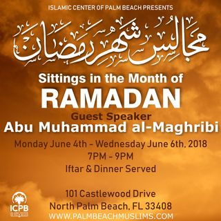 Sittings in Ramadan 1439 - 2018