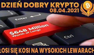"""#DDK   08.04.2021   $648MLN """"TO THE MOON"""" POZYCJI SKASOWANYCH? ARMIA XRP - PETYCJA DO GENSLERA? COINBASE DODAJE..."""