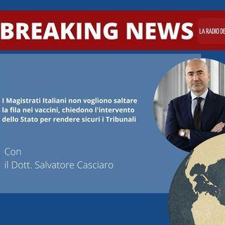 I Magistrati Italiani non vogliono saltare la fila nei vaccini, chiedono l'intervento dello Stato per rendere sicuri i Tribunali
