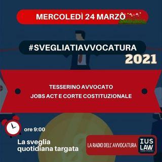 TESSERINO AVVOCATO - JOBS ACT E CORTE COSTITUZIONALE - #SvegliatiAvvocatura