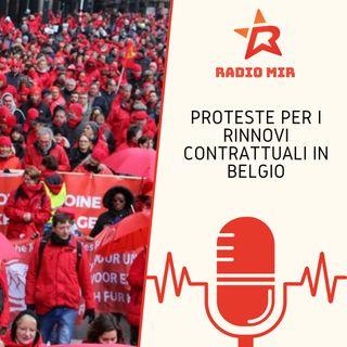 Proteste per i rinnovi contrattuali in Belgio