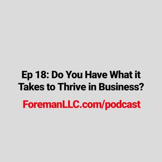Ep 18: Do You Have What it Takes to Thrive in Business?
