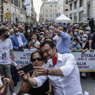 Marcia su Covid, di Salvini e Meloni