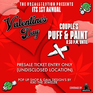 Happy V-Day (Puff & Paint)