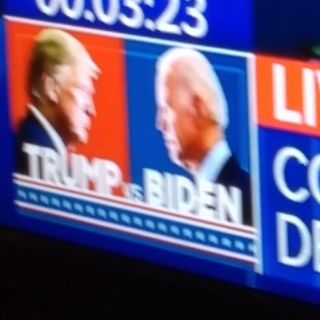 "Debate Talk ""Orange Glow"" Trump Vs ""Sleepy Joe"" Biden #AmyCBarrett"