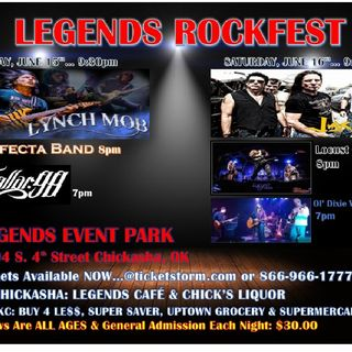 LEGENDS ROCKFEST@ LEGENDS EVENT PARK...JUNE 15TH (LYNCH MOB); JUNE 16TH (JACKYL)
