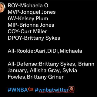My hot takes on the WNBA Awards