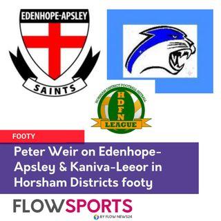 They meet at last - Peter Weir previews Edenhope-Apsley vs Kaniva-Leeor in Horsham District Football
