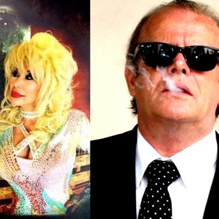CJ Morgan as Dolly Parton and Jack Bullard as Jack Nicholson