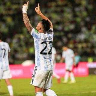 Gol de Argentina: Lautaro Martínez 0-1