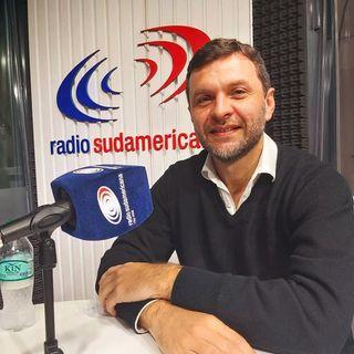 Marcos Hanke con Noelia Maciel (Radio Sudamericana)