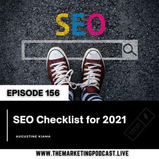 EP 156 : SEO Checklist for 2021