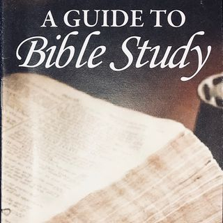 "Audio Book - ""A Guide To Bible Study"" by Harvey Newcomb"
