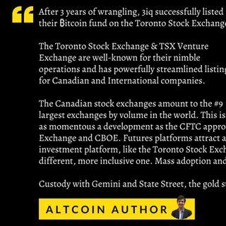 Success! - Bitcoin Fund on Toronto Stock Exchange