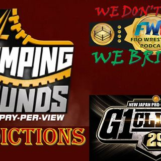 WWE Stomping Grounds Predictions / G1 Climax News