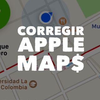 Corregir Apple Maps paga.
