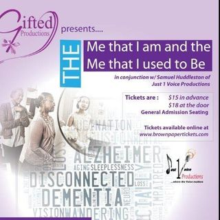 The Me that I am-The Me That I Used to Be. Dimentia and Alzheimers on Stage