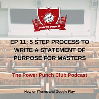 5 Step Process to write a statement of purpose for masters