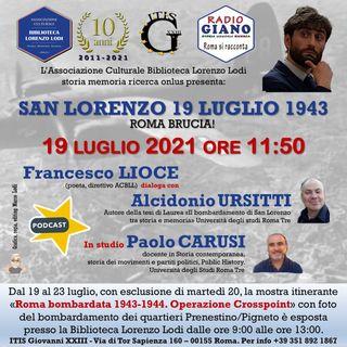 San Lorenzo 19 luglio 1943. Roma brucia!