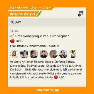 Road to Didays - Greenwashing o Reale Impegno?