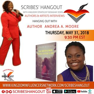 Scribes Hangout welcomes author Andrea A. Moore