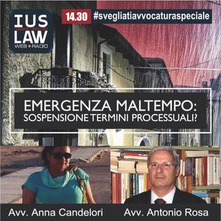 Emergenza Maltempo in Centro Italia: Sospensione dei Termini Processuali?